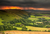 Sunset after cloudburst on South Downs from Devils Dyke (JamboEastbourne) Tags: sunset england downs sussex south devils explore dyke cloudburst devilsdyke explored