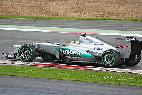 Nico Rosberg in his Mercedes AMG Petronas F1 Car at Silverstone