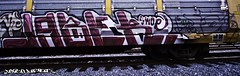 THE JABER (Revise_D) Tags: railroad bench painting graffiti steel rail tags railcar tagging railfan freight revised jaber fr8 railart steelart benching swoe boxcarart fr8heaven revisedesigns