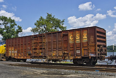 CSXT 161205 (smbrooks_2000) Tags: railroad newyork train rusty rail traincar weathered boxcar milton csx freightcar csxt4539 csxt161205