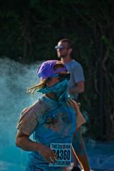 (Schuhbox4) Tags: blue cloud color hat glasses paint kentucky running run louisville bandana dust bandit runner