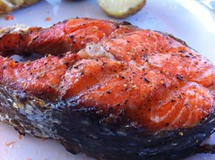 BBQ Salmon Steak