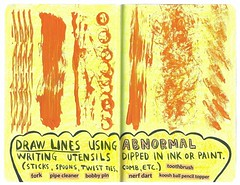 (downcloud) Tags: orange utensils lines pencil ink writing ball ties this sticks mess paint pin or pipe journal fork twist using bobby etc draw toothbrush wreck cleaner nerf dart comb topper abnormal spoons koosh dipped wtj