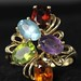 4035. Multi-Gem Stone Set Ring