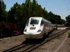 Lorca-Sutullena. Salida Altaria Nº 10229. (Lorca-Baza-Aguilas) Tags: train spain railway murcia dual hybrid 13 region lorca tilting aguilas renfe talgo 730 altaria híbrido adif hibrido 10229 sutullena