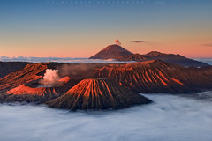 Volcanic Sunrise (Helminadia Ranford(New York)) Tags: mountains sunrise indonesia landscape volcano bromo semeru tengger
