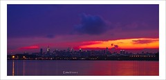 Tonights Sunset Over New York City (Eddie_NewYorkNature) Tags: sunset sunrise dusk dawn colorful colors longexposure cityscape landscape cityofnewyork newyork newyorkcity ny nyc newyorksunset sunsetnewyork citysunset newyorkskyline sky summer storm natureofnewyork sunsetovernewyorkcity