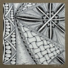 outside of the lines (shebicycles) Tags: monochrome pen pencil tile square doodle zentangle