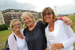 BP:s Girls: Pia Eklund, Christina Fridolf & Margareta Nilsson.