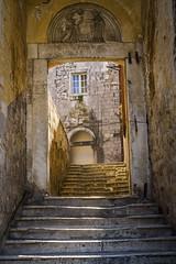 Doorway in Dubrovnik (hayden buck) Tags: old sea summer panorama beautiful harbor town seaside cityscape harbour croatia dubrovnik adriatic hrvatska kroatien