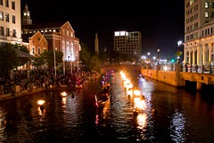 WaterFire facing RISD