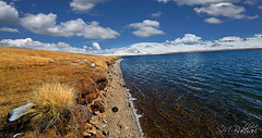 Edge (SMBukhari) Tags: autumn lake mountains water grass snowy stones bank edge deosai baltistan sheosar sheosarlake syedmehdibukhari smbukhari