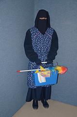 Warm summer outfit for the slave maid (Warm Clothes Fetish) Tags: girl warm hijab apron sweat fleece niqab maid anorak slave burka chador