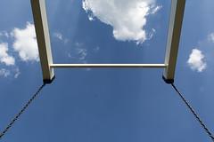 Brigde (Jan van der Wolf) Tags: bridge blue sky clouds blauw wolken symmetry minimal chain symmetric drawbridge minimalism lucht minimalistic lifting frogperspective ketting ophaalbrug map155147v