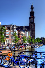Dutch view - Prinsengracht in Spring (Tryppyhead) Tags: amsterdam spring thenetherlands hdr westerkerk 2016 northholland nikond7200