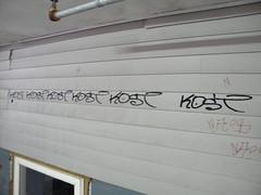 Kost alot (Randall 667) Tags: street urban house art island graffiti artist exploring tag providence vandal writer siding rhode kost tagger