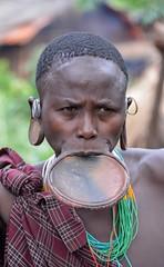 Surmi Woman, Tulgit, Ethiopia (Rod Waddington) Tags: africa portrait people woman female beads outdoor african traditional tribal afrika omovalley ethiopia tribe ethnic surma ethnicity afrique ethiopian omo thiopien etiopia ethiopie lipplate surmi tulgit