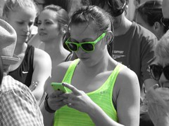 ColourSplash Wings For Life I Like Green Runner Cambridge May 2016 (symonmreynolds) Tags: charity cambridge girl may run paparazzi runner coloursplash 2016 selectivecolouring ilikegreen wingsforlife