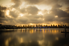 """Mostly sunny"" (dmunro100) Tags: longexposure light sea marina sunrise canon boats eos dawn boat dof depthoffield adelaide southaustralia northhaven canonefs1755mmf28isusm 60d"