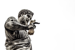 Peter (IG: @gerlands) Tags: sky italy rome roma statue canon grey italian key italia peter marble sanpietro statua pietro marmo chiave gerlando gerlandoalletto