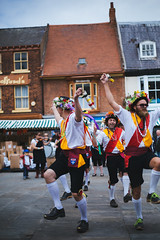 the dancing bouquet (I AM JAMIE KING) Tags: summer england people music dance costume village britain folk clogs morris tradition folkmusic beverley morrisdance beverleyfolkfestival
