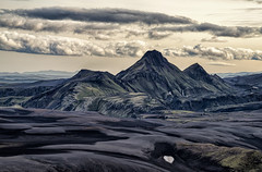 Gifts of Nature (Maddog Murph) Tags: life travel black green art beautiful yellow clouds landscape photography lava iceland highlands sand ngc fine backcountry trio volcanic langisjor