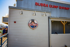 Bubba Gump Sign (etzel42) Tags: ocean california santa ca pier santamonica socal monica boardwalk westcoast
