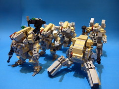 CowBoy Squadron (CAT WORKER) Tags: lego military mech moc
