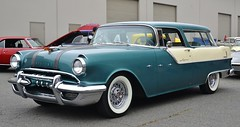 1955 Pontiac Star Chief Safari (Custom_Cab) Tags: door blue 2 two white hardtop 1955 car station wagon star chief safari pontiac tone 2door