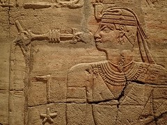 Relief depicting King Taharqa on the wall of his 7th century BCE shrine (mharrsch) Tags: architecture temple worship shrine god unitedkingdom religion egypt oxford pharaoh 7thcenturybce myth basrelief hieroglyph ashmoleanmuseum taharqa lateperiod 25thdynasty mharrsch
