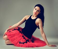 Vilia (sauliuske) Tags: red portrait ballet female studio model ballerina dancer tutu