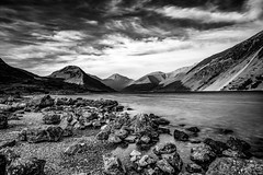 Wast Water Mono (Explored...) (Joe Hayhurst) Tags: lakedistrct landscape wastwater longexposure mono blackandwhite england lakedistrict