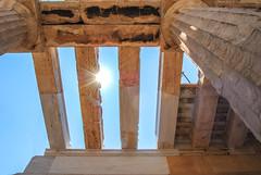 Ancient Light (free3yourmind) Tags: light sun ancient athens parthenon greece rays akropolis kions