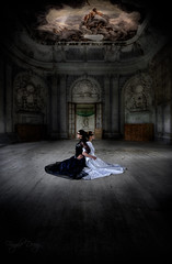 Yin Yang (Fragile Decay) Tags: urban white black dress decay exploring yang yin chateau schloss fragile barock urbex