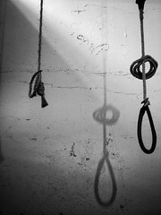 Shadow of the Noose (Feldore) Tags: road ireland shadow wall sinister cell olympus belfast rope prison hanging northern punishment mchugh gaol noose execution em1 crumlin 1240mm feldore