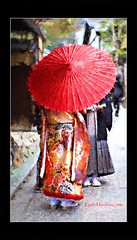 VVG in Kyoto (Emet Martinez Photography) Tags: red japan kyoto kimono digitalphotography weddingcouple topazsoftware emetmartinezphotography emetmartinezcom topazimpression vincentvangoghbrushstrokes