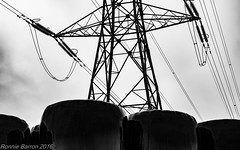 energy/ies (RCB4J) Tags: sky food art photography scotland afternoon rainyday sunday pylon electricity hay bales silage fodder ayrshire hss haylage minoltamaxxumaf50mmf17 slidersunday sonyslta77v ronniebarron rcb4j overgeadcables