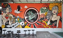 Play Club wall paint Knotsix x Orange x Synth-bar CNX Thailand
