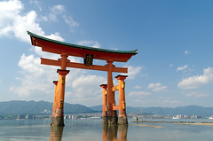 Itsukushima Shrine (beatplusmelody) Tags: ocean sea water japan landscape nikon shrine religion floating hiroshima miyajima shinto tamron torii jinja itsukushima itsukushimajinja 1755mmf28 d7000