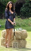 Georgia Salpa attends a photocall to announce the search for Ireland's most eligible bachelor farmer sponsored by Batchelors Peas Dublin, Ireland
