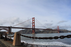 Golden Gate Bridge (commishkorey) Tags: sanfrancisco marin goldengatebridge fortpoint chainlinks ggnpc11 ggb75