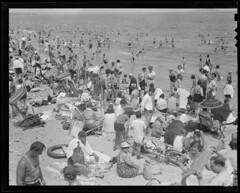 Revere Beach (Boston Public Library) Tags: massachusetts beaches crowds sunbathing reverebeach lesliejones