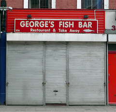Georges Fish Bar, Essex Road N1 (Emily Webber) Tags: fish london shops islington n1 essexroad shopfronts londnshopfronts