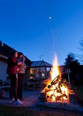 Fireside (Daveybot) Tags: fire jo ali burning burn bonfire alison burninate blipem alimo