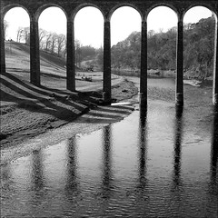tweed (backroom.angel) Tags: square mono scotland blackwhite viaduct g1 tweed 500x500 bsquare innamoramento thescottishborders asquaresuperstarstemple