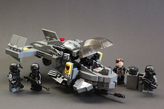 "DARKWATER ""Air Shark"" Gunship (✠Andreas) Tags: lego aircraft darkwater gunship airvehicle legovtol legogunship vtolgunship"