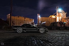 Murdered Out Z06 // Dave's 2004 Corvette Z06 (ojsantiago21) Tags: ohio 2004 nikon downtown cincinnati corvette 62 z06 2470mm lightpaint ls3 d700 murderedout ojsantiago