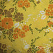 Yellow/orange vintage duvet cover