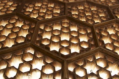 a screen for the womens to hide behind (desert sky at night) Tags: light india glow shine marble jaipur lattice rajasthan amberfort amerfort canon24105mm