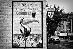 Painted Sign - Doyles (tacoma290) Tags: blackandwhite irish building brick pub nikon tacoma paintedsign doyles doylespublichouse paintedsigndoyles